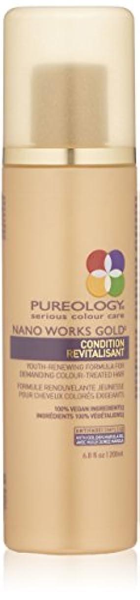 褐色特異性謎by Pureology NANO WORKS GOLD CONDITIONER 6.8 OZ by PUREOLOGY