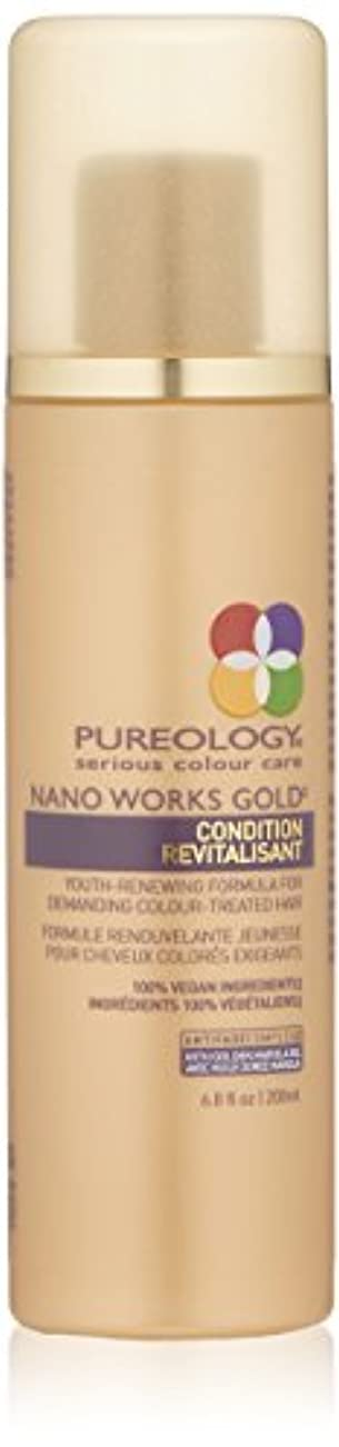 吐く製油所無臭by Pureology NANO WORKS GOLD CONDITIONER 6.8 OZ by PUREOLOGY