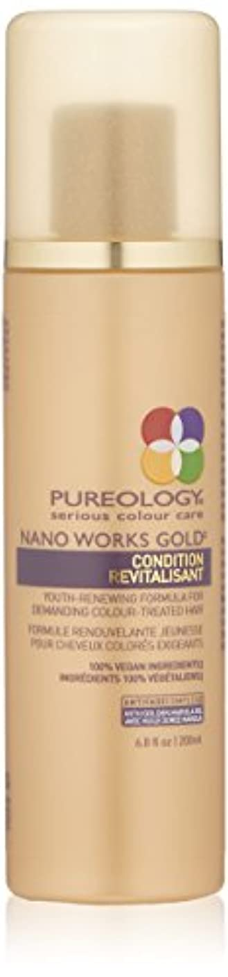 逆に蒸発する均等にby Pureology NANO WORKS GOLD CONDITIONER 6.8 OZ by PUREOLOGY
