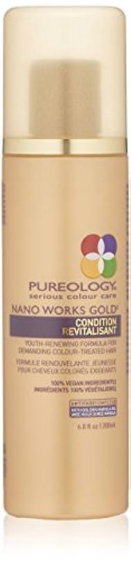 ほのかトンネル魅惑するby Pureology NANO WORKS GOLD CONDITIONER 6.8 OZ by PUREOLOGY