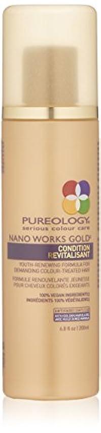 将来の社会主義メタンby Pureology NANO WORKS GOLD CONDITIONER 6.8 OZ by PUREOLOGY