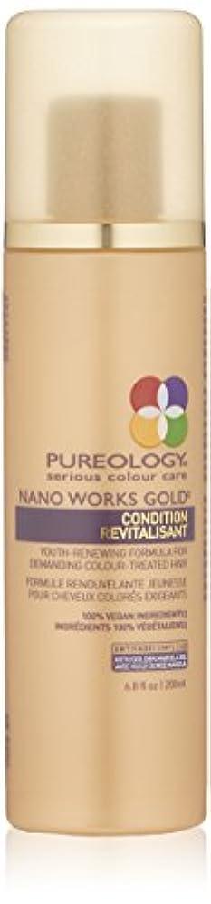 摂氏度機械的に湿地by Pureology NANO WORKS GOLD CONDITIONER 6.8 OZ by PUREOLOGY