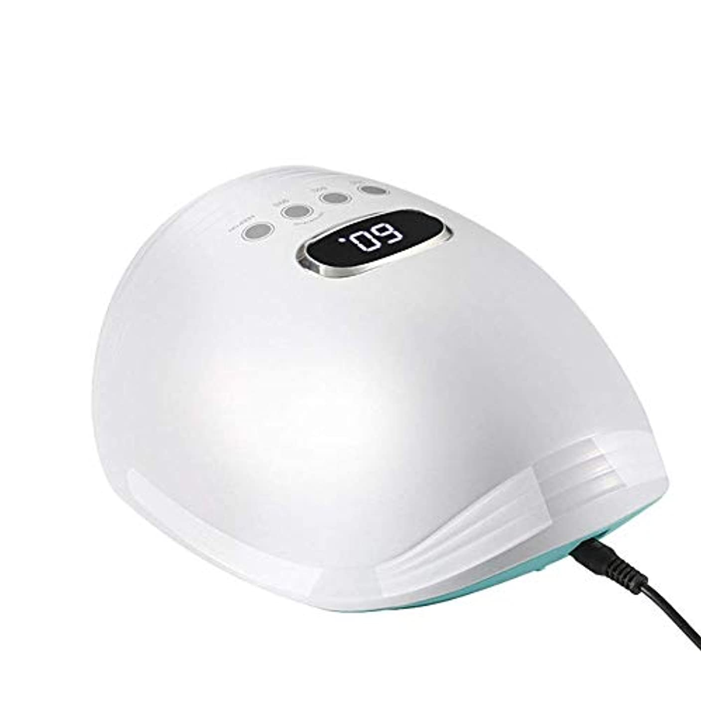 フェローシップ避ける触手新しいネイルランプled光線療法ランプ60ワット赤青光ネイル機インテリジェント誘導ネイル光線療法ランプ、ピンク (Color : White)