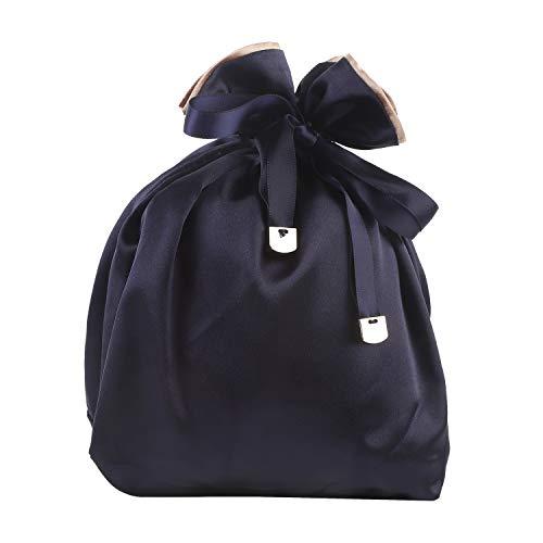 NEOVIVA 巾着袋 化粧品 収納ポーチ 通勤学校 可愛い ランチバッグ 旅行 贈り物 ブルー 巾着袋だけ