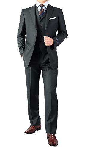 秋冬 仕事 ビジネス エルメネジルド・ゼニア 段返り3ツボタン スリーピース スーツ ベスト付 ビジネス スーツ