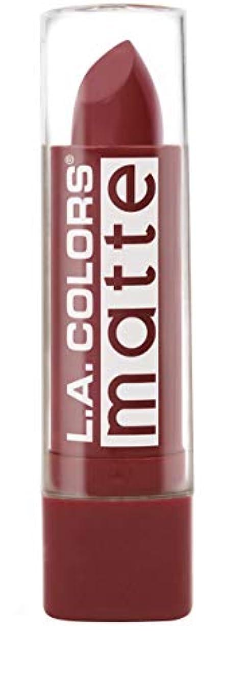 ドライ見出し擁するL.A. COLORS Matte Lip Color - Brick (並行輸入品)