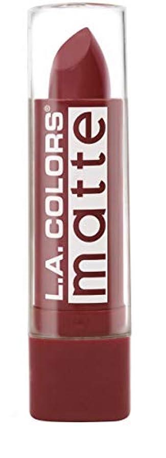 大きなスケールで見るとキャプション掘るL.A. COLORS Matte Lip Color - Brick (並行輸入品)