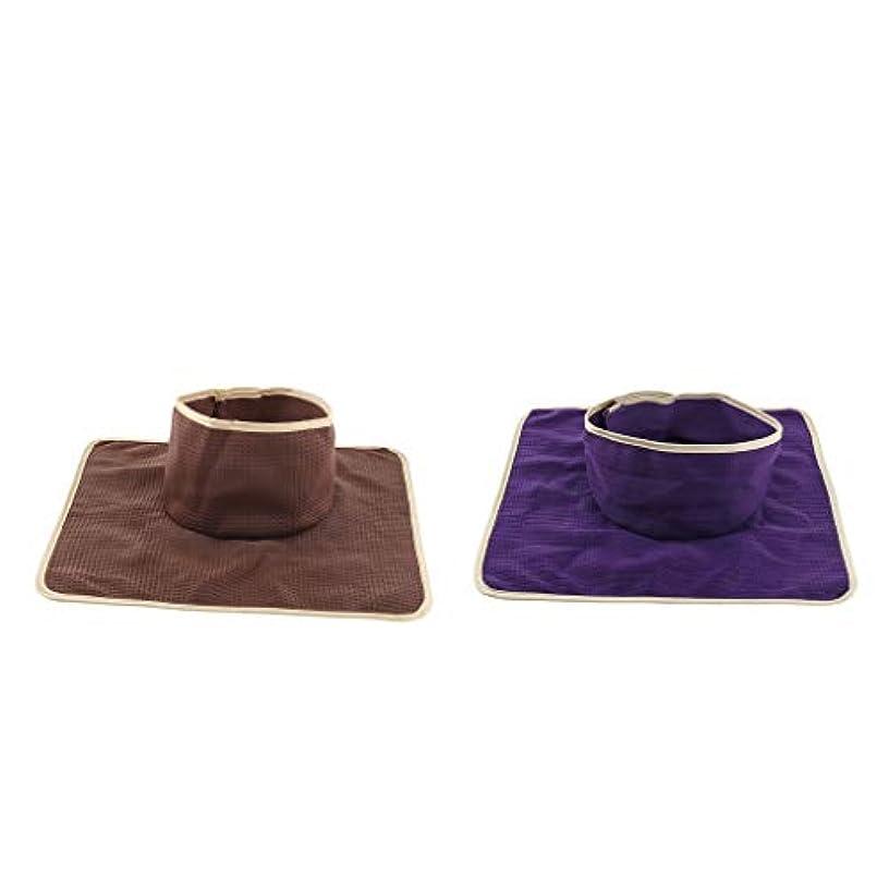 八百屋コスチューム麺P Prettyia フェイスホール付き 2ピース 洗え 再利用可能な マッサージ ベッドタトゥーテーブルシートパッド