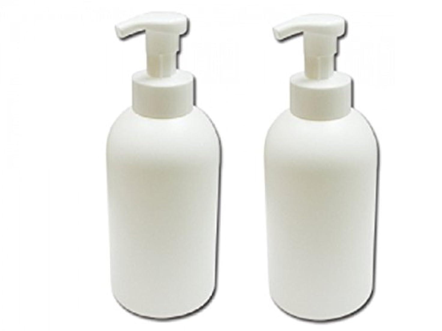 無一文ルーダース泡立てポンプボトル800ml 泡で出てくる詰め替え容器泡立ちソープディスペンサー 液体石鹸、シャンプーボディーソープの詰め替えに 泡フォームポンプ容器 液体せっけん等の小分けに[2個セット]