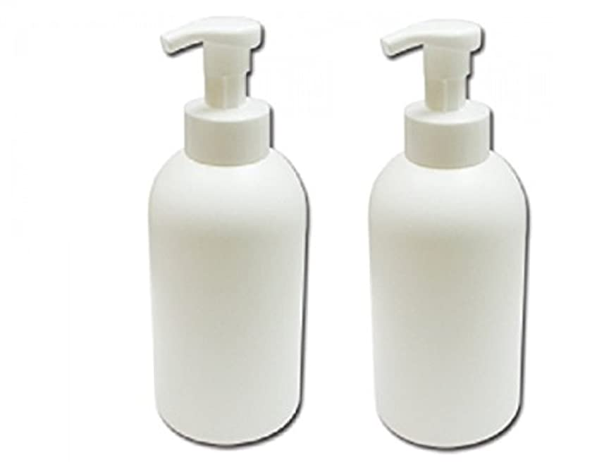 泡立てポンプボトル800ml 泡で出てくる詰め替え容器泡立ちソープディスペンサー 液体石鹸、シャンプーボディーソープの詰め替えに 泡フォームポンプ容器 液体せっけん等の小分けに[2個セット]