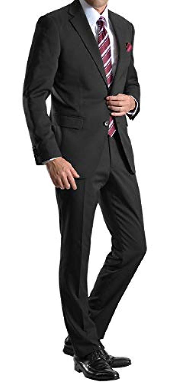 [MARUTOMI] 2ツボタンスリムフィット ストレッチ スーツ メンズ ビジネススーツ ウォッシャブルパンツ 洗えるスラックス 防シワ オールシーズン対応 【裾上げテープ?スーツハンガー付属】 AC95