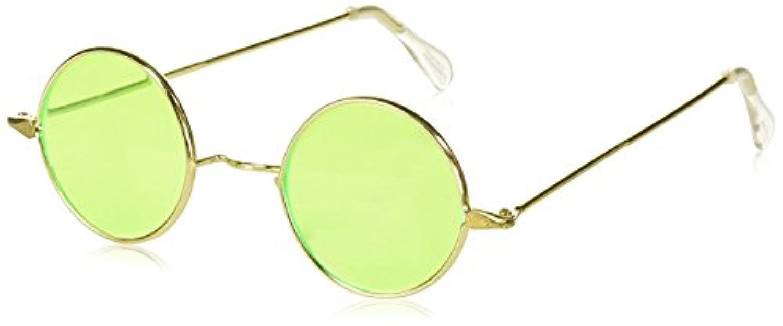 Forum Novelties PL1201BN-M Round Sun Glasses Green