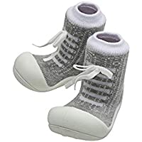 Attipas Sneaker Baby Walker Shoes, Grey, Medium