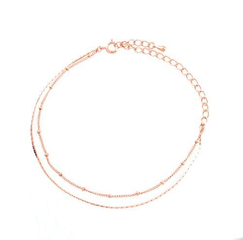 [해외]반짝 반짝 체인 발찌 핑크 골드 (a9066-PG)/Glittering Chain Anklet Pink Gold (a 9066-PG)