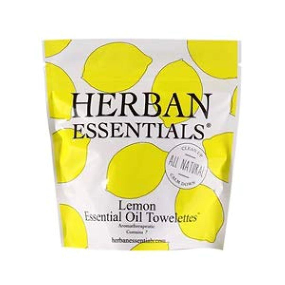 胚芽とにかく協定ハーバンエッセンシャルズ HERBAN ESSENTIALS アロマタオル ミニ レモン 7包 [並行輸入品]