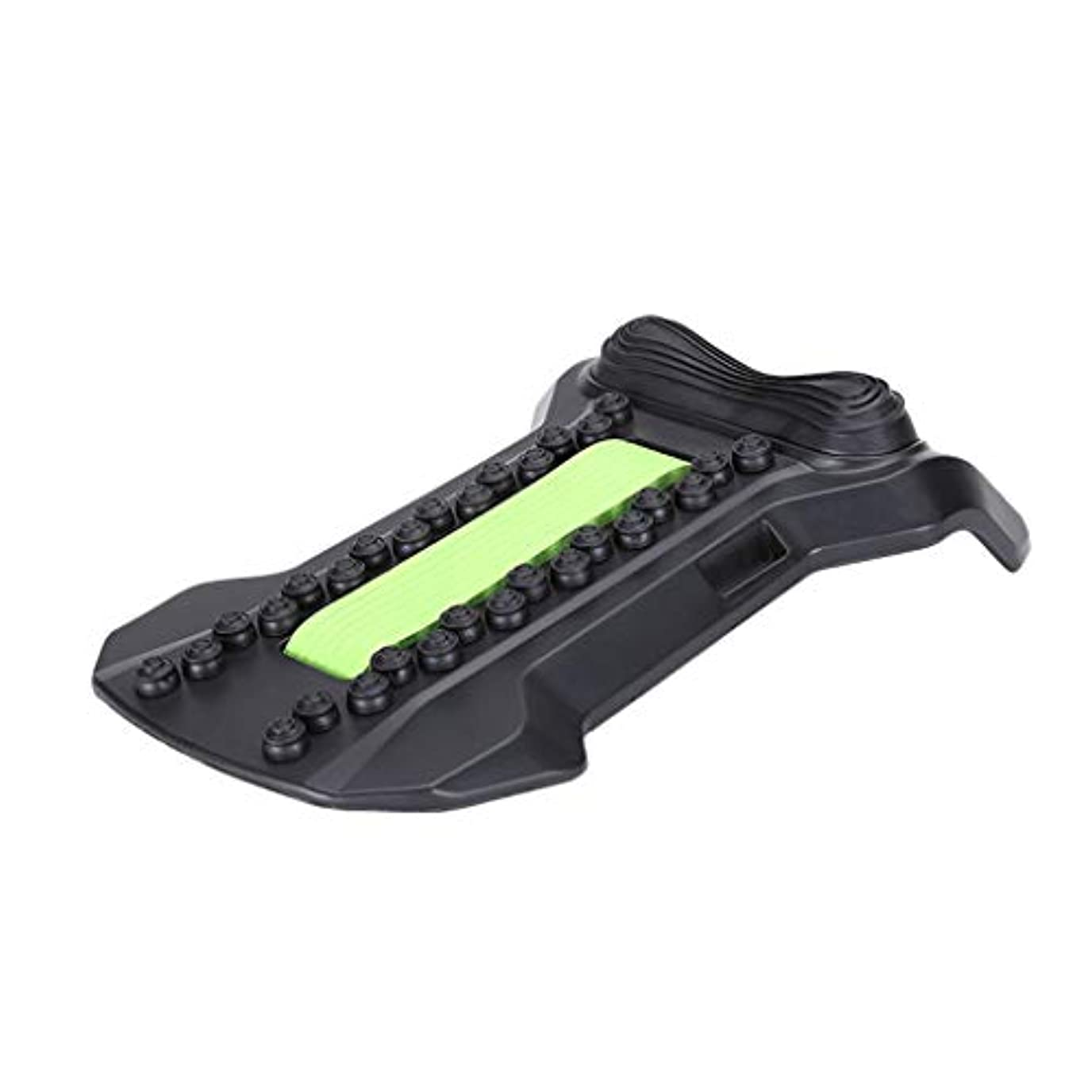 静かなキャンペーン厄介な背部マッサージャーの伸張装置、腰椎サポート弛緩の魔法の伸張器の適性の仲間の脊椎の痛みを和らげるカイロプラクター,Green