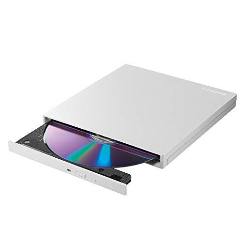 I-O DATA 外付け DVDドライブ 薄型ポータブル/USB3.0/バスパワー/Win/Mac/国内メーカー製 EX-DVD04W