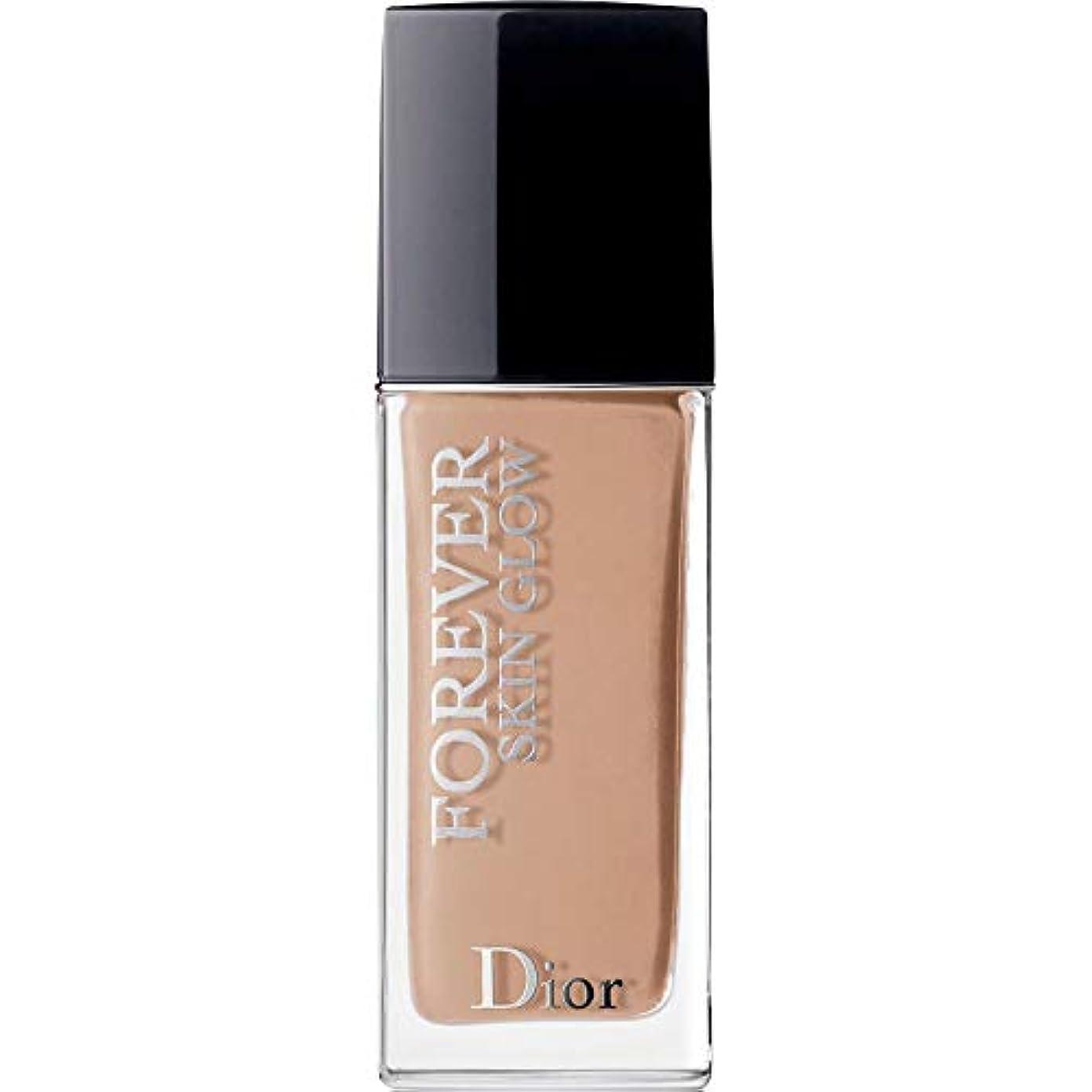 愚か脱獄かどうか[Dior ] ディオール永遠に皮膚グロー皮膚思いやりの基礎Spf35 30ミリリットル4Cを - クール(肌の輝き) - DIOR Forever Skin Glow Skin-Caring Foundation SPF35...