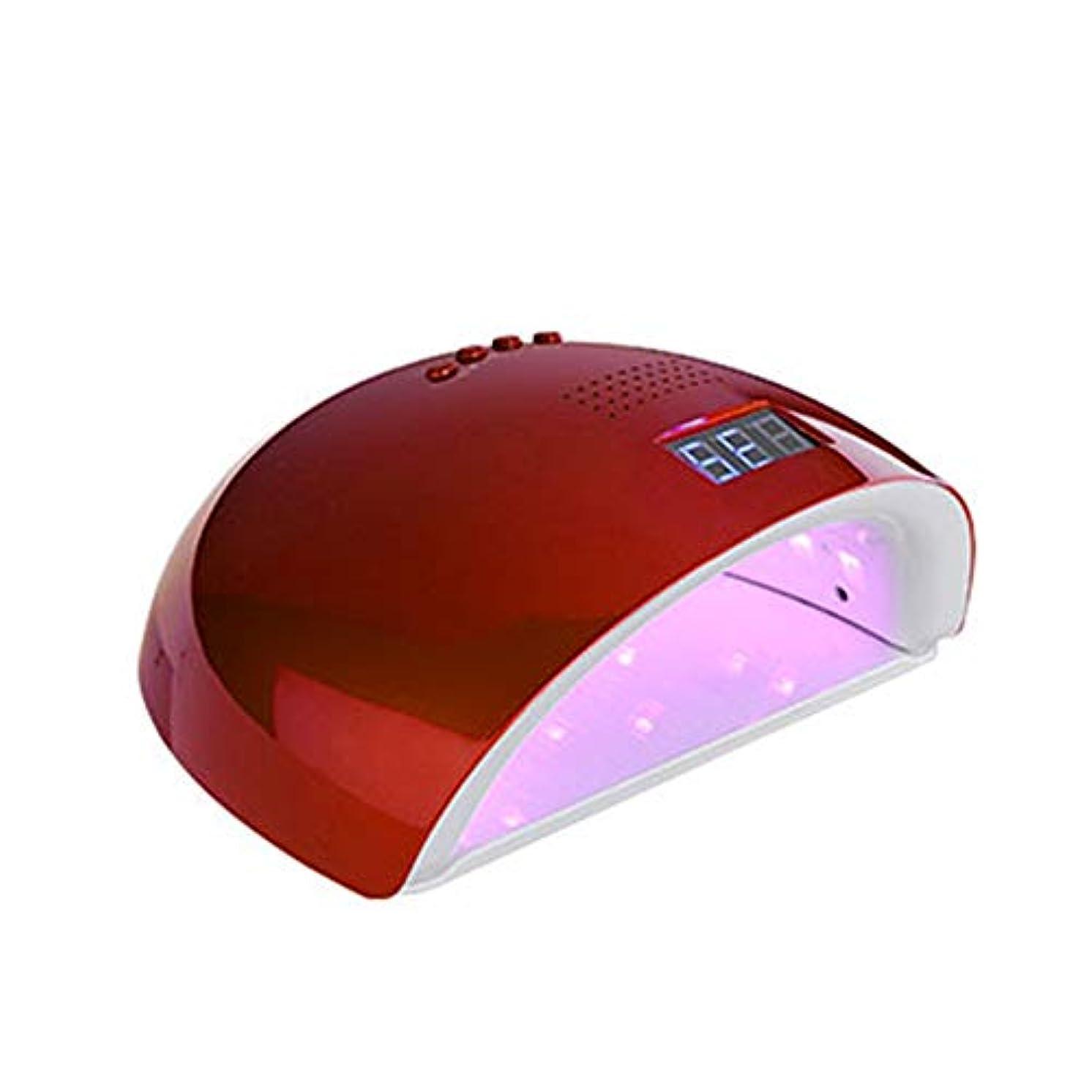 吸い込むハンバーガー泥沼レッドライト60W日7AランプネイルズLEDデュアルパワーネイルドライヤーエアードライヤー硬化UVジェルポリッシュネイルアートマニキュアツールの自動誘導,赤