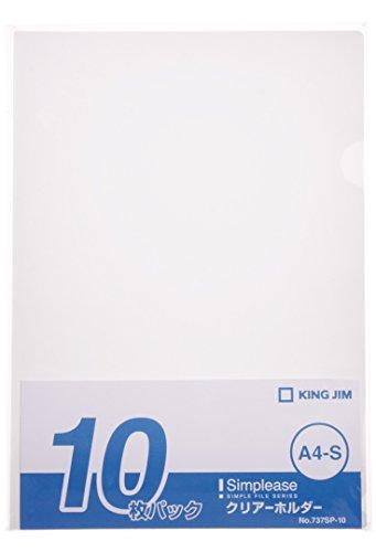 キングジム クリアーホルダ-シンプリーズ 10P 乳白 A4 737SP-10ニユ