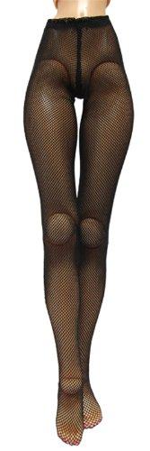 キューティーズ 50cmドール用網タイツ(黒)=ダイヤ型ネット