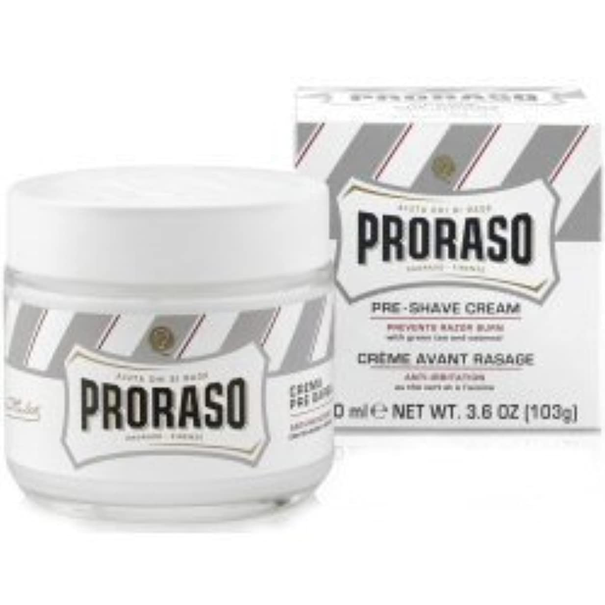 マークされたパスポートリンスProraso Pre & Post Shave Cream Sensitive Skin 100ml by Proraso [並行輸入品]