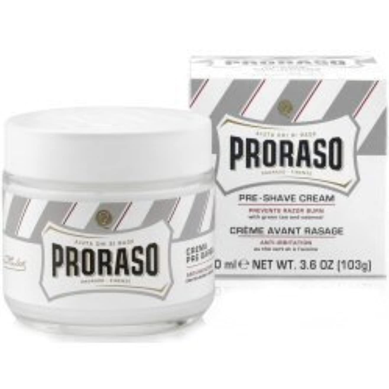 奇跡的な囚人楕円形Proraso Pre & Post Shave Cream Sensitive Skin 100ml by Proraso [並行輸入品]
