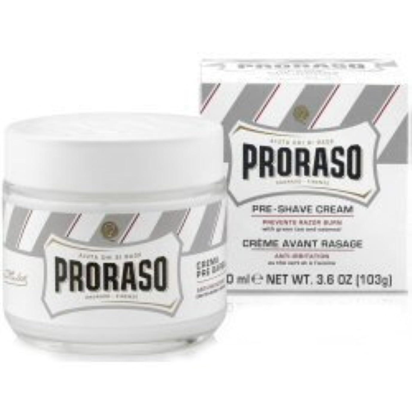 より良い焦がす増幅器Proraso Pre & Post Shave Cream Sensitive Skin 100ml by Proraso [並行輸入品]