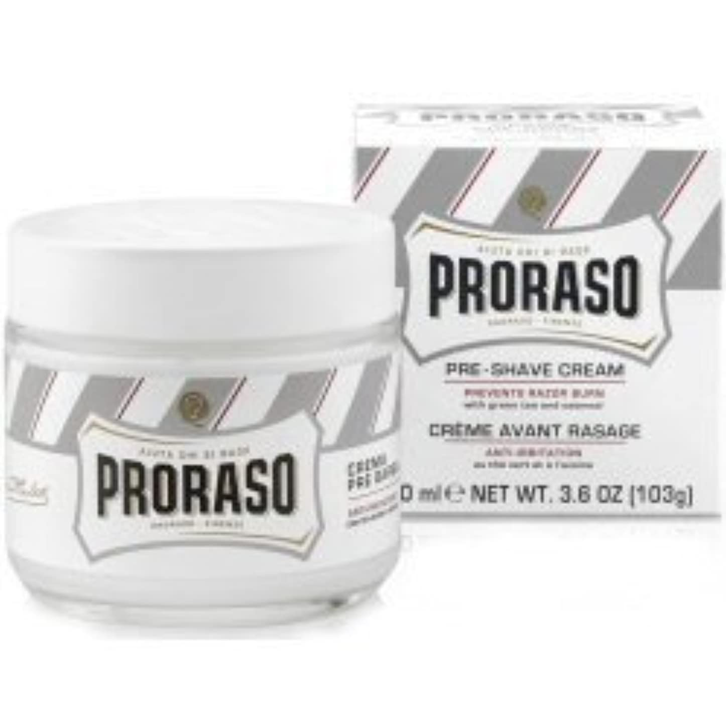 突き出すハチクラスProraso Pre & Post Shave Cream Sensitive Skin 100ml by Proraso [並行輸入品]