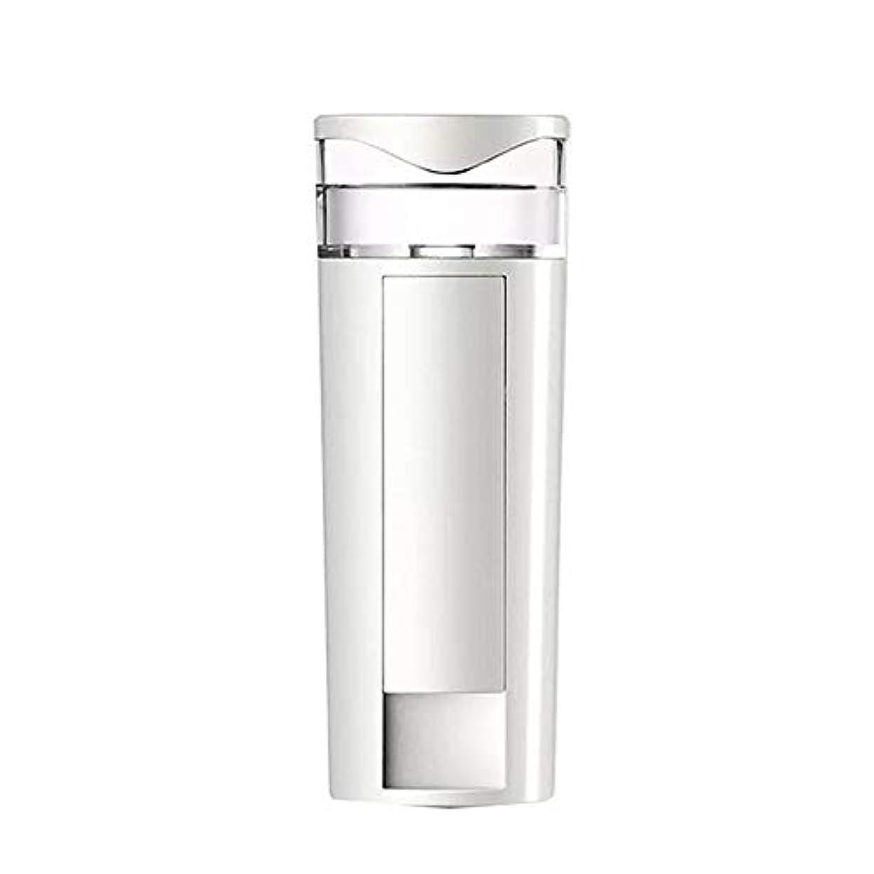 エージェント回転するリフレッシュZXF 携帯用ナノスプレーの水道メーターの顔の充満表面コールドスプレー機械スプレーヤーのABS物質的な白 滑らかである