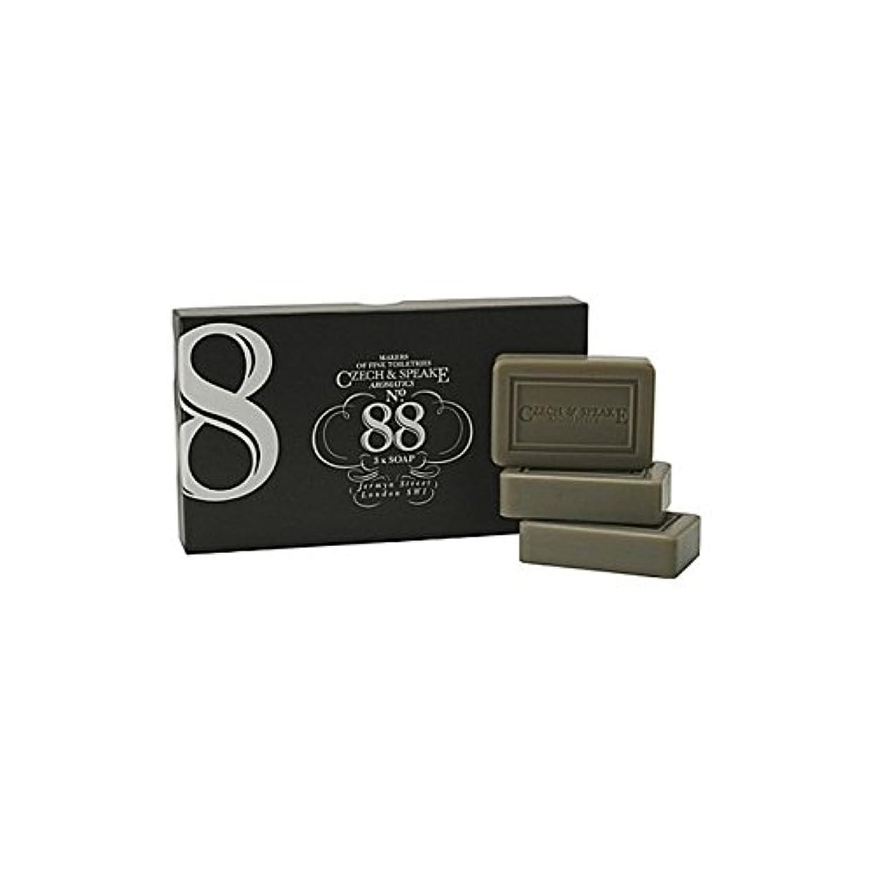 速記目の前の木材チェコ&スピーク.88ソープセット x4 - Czech & Speake No.88 Soap Set (Pack of 4) [並行輸入品]