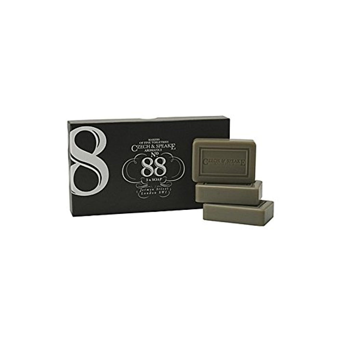 有料忍耐原子チェコ&スピーク.88ソープセット x4 - Czech & Speake No.88 Soap Set (Pack of 4) [並行輸入品]