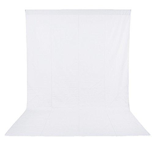 NEEWER 1.8x2.8M100%モスリン折り畳める背景布「白」 撮影やビデオなどに対応