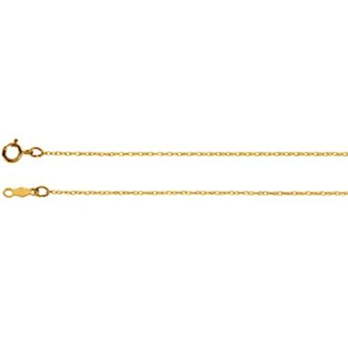 """7 """"。75 mmレーザー加工タイタンゴールドロープチェーン14 Kイエローゴールド"""