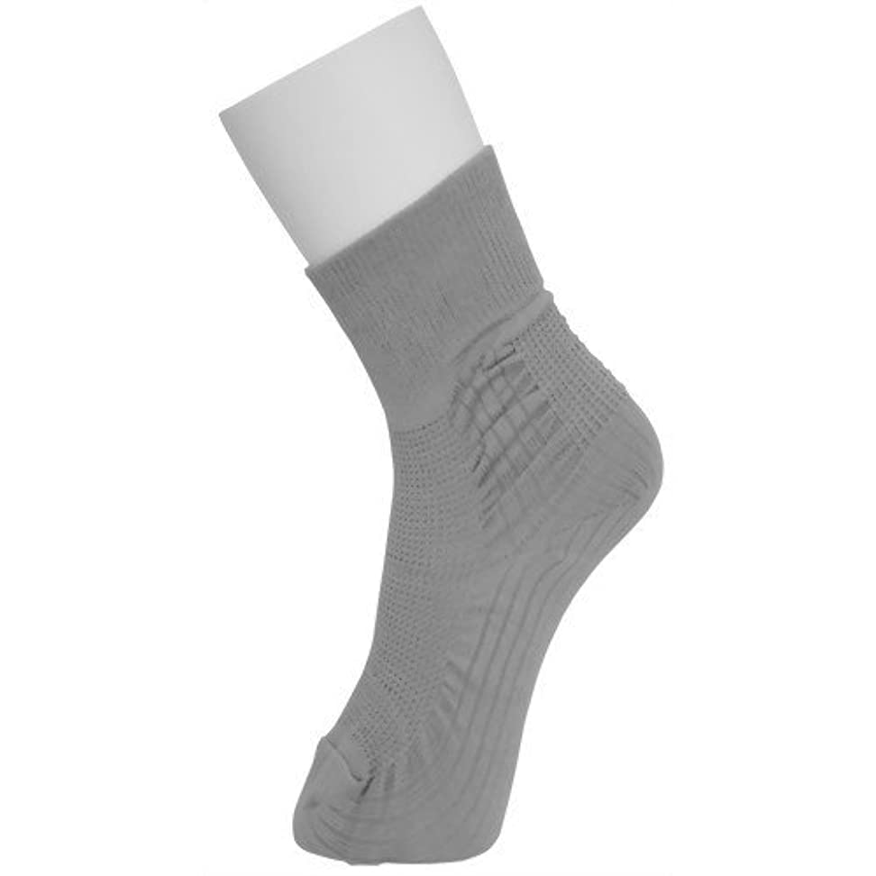 見捨てられた計算可能パドル転倒予防靴下 アガルーノ 同色?同サイズ 2枚組 (24-25cm, グレー)
