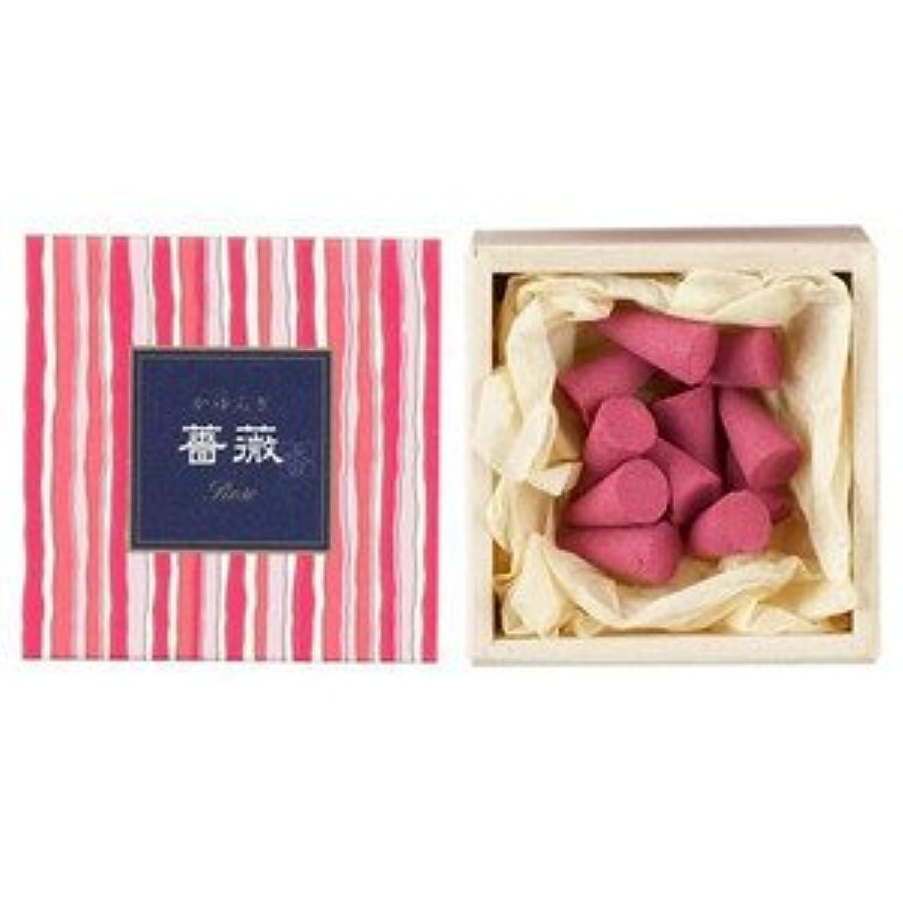 あいまいさスーパーマーケットエッセンス日本香堂 かゆらぎコーン 薔薇