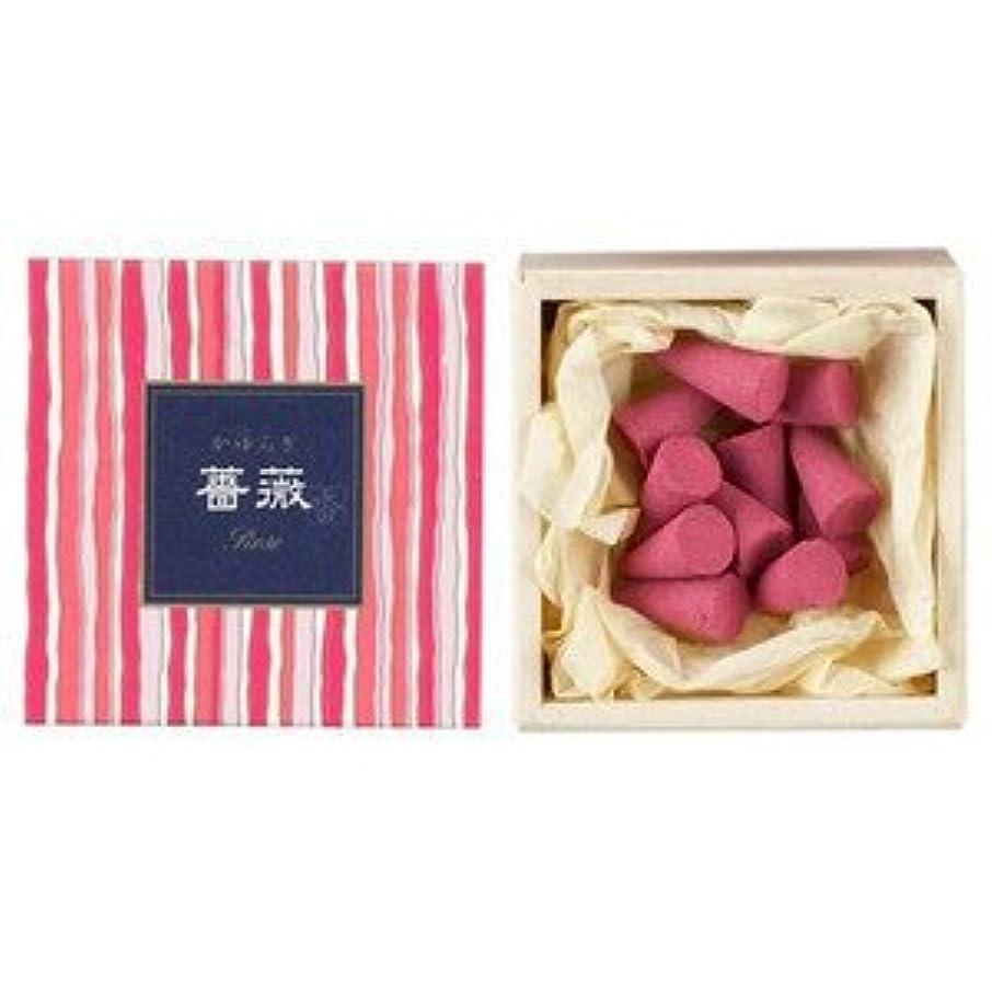 ストレッチ成功重大日本香堂 かゆらぎコーン 薔薇