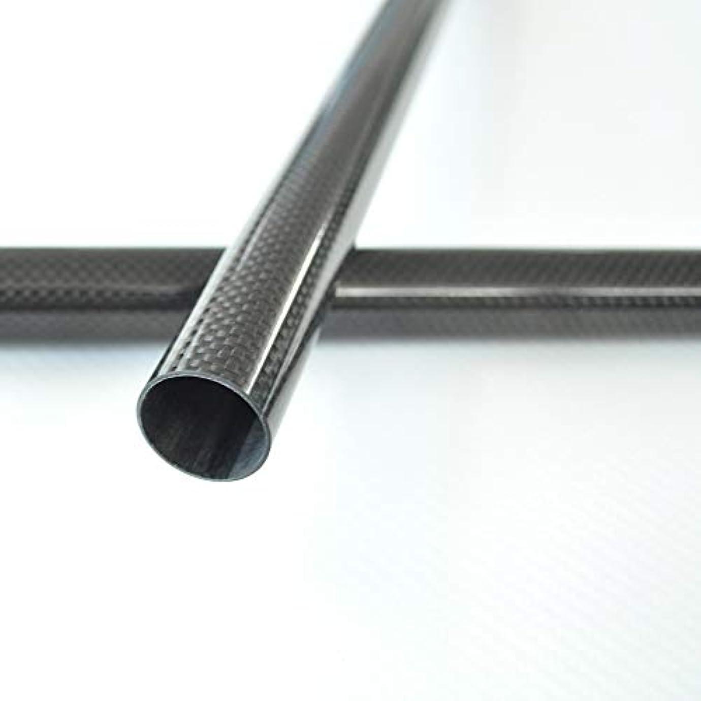 シフトステートメント家族Abester 3K カーボンパイプ 中空チューブ 炭素繊維 外径 5mm 6mm 7mm 8mm 9mm 10mm 長さ500mm (2本 6mm x 4mm x 500mm 平織光沢)