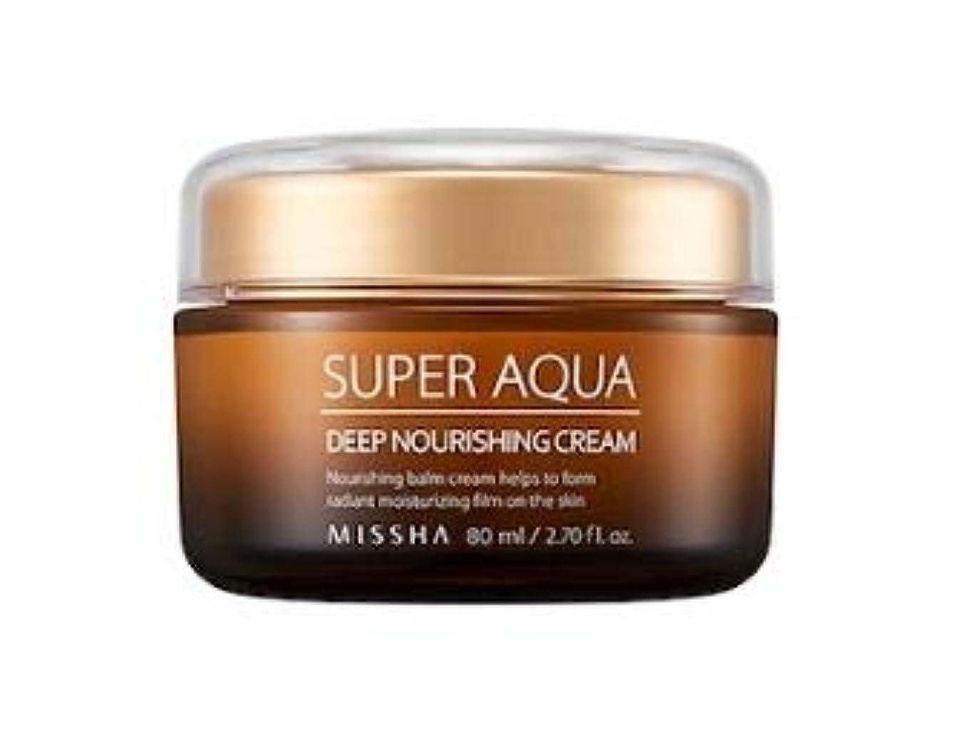 雪の文献トランスペアレントMISSHA Super Aqua Ultra Water Full Deep Nourishing Cream ミシャ スーパーアクアウルトラウォーターフルディープナリシングクリーム [並行輸入品]