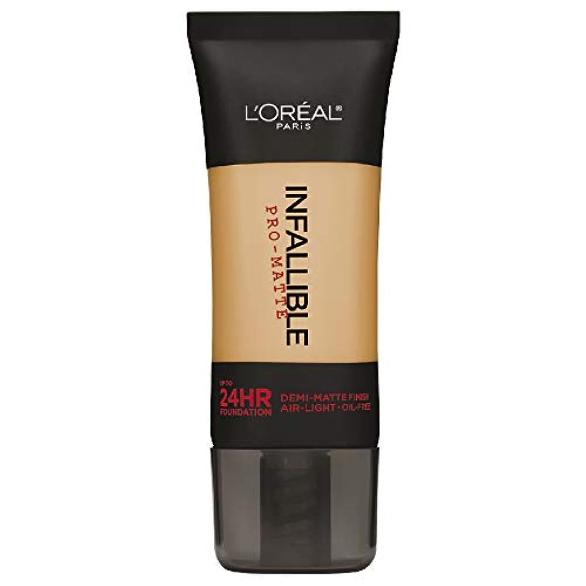 不潔昼間機知に富んだL'Oreal Paris Infallible Pro-Matte Foundation Makeup, 106 Sun Beige, 1 fl. oz[並行輸入品]