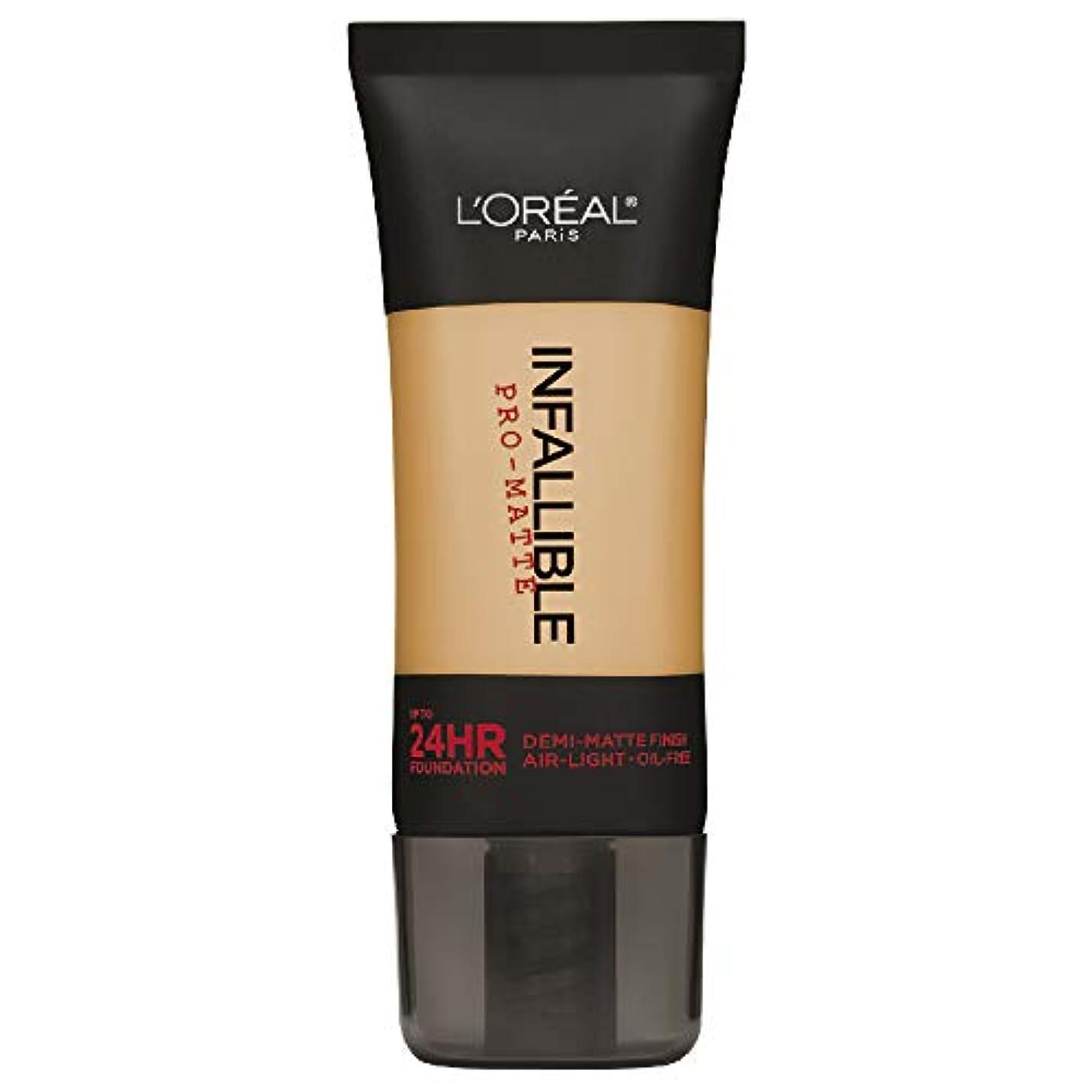 魔術ヒロイン上へL'Oreal Paris Infallible Pro-Matte Foundation Makeup, 106 Sun Beige, 1 fl. oz[並行輸入品]