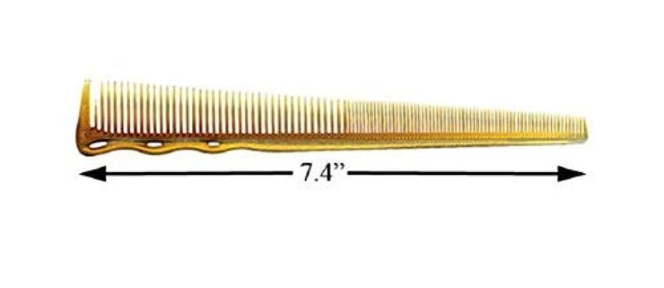 植物学破滅的なとティームYS Park #234ex Extra Fine Short Hair Design Comb In Camel from ProHairTools [並行輸入品]