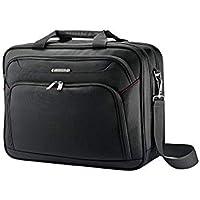 Samsonite 89433 Xenon Two Gusset Soft Side Laptop Briefcase, Black, 42 Centimeters