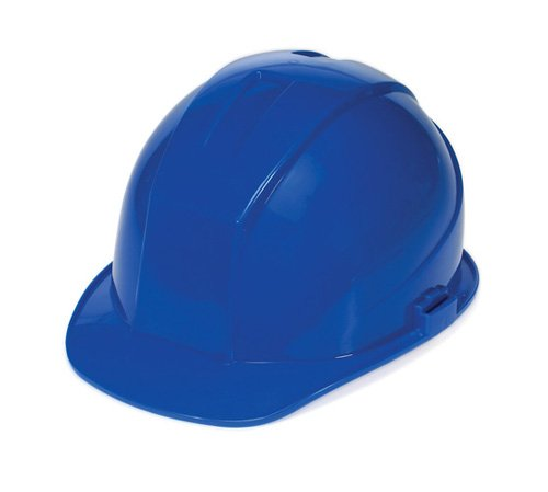 Liberty DuraShell HDPE Cap Style Hard Hat with 6 Point Ratchet Suspension, Blue (Case of 6) by Liberty Glove & Safety