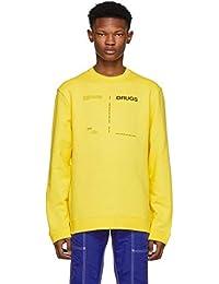 (ラフ シモンズ) Raf Simons メンズ トップス スウェット・トレーナー Yellow 'Drugs' Regular Fit Sweatshirt [並行輸入品]