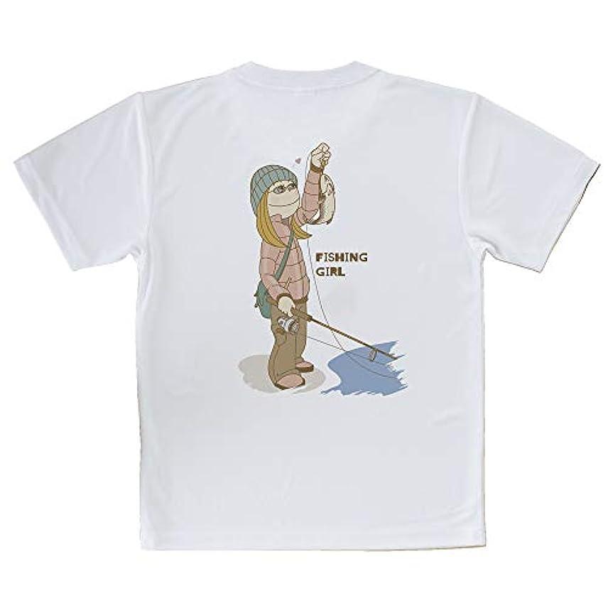 公爵激しいアグネスグレイAnglersLife Tシャツ 釣りガール イラスト United Athle(ユナイテッドアスレ) ホワイト 白 ポリエステル100% 4.1oz UTF30