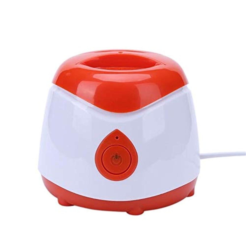 お風呂を持っている粘性の増強するウォーマーワックスヒータープロフェッショナルABSミニスパハンドフィート脱毛器充電式機械本体脱毛脱毛ツール,赤