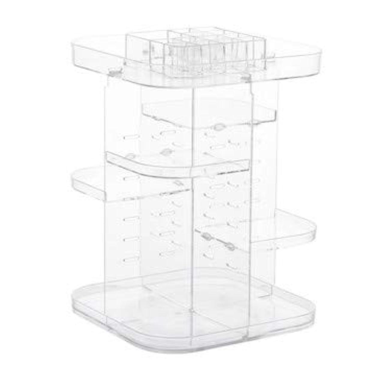 予防接種するベーカリー大気透明スクエア化粧品ケースクリエイティブ回転スキンケア製品収納化粧台口紅収納ボックス (Color : ワインレッド, Edition : A)