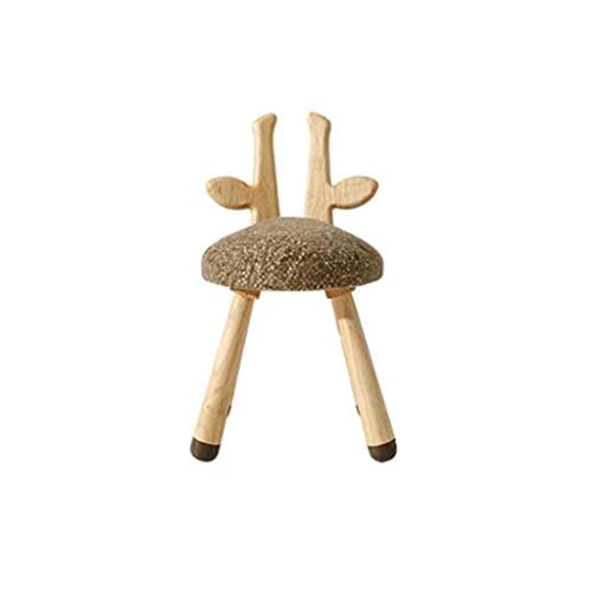ハンサム読書をする効果的GWM スツールチェアスモールシート - ソリッドウッド子供スツールソフトバッグ漫画スモールベンチAnimal Chair