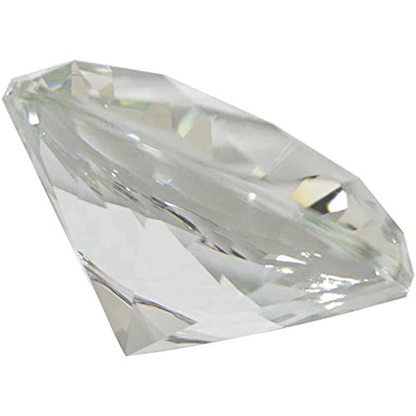 共役市場最適MATIERE ダイヤモンド型ガラスオブジェ100m